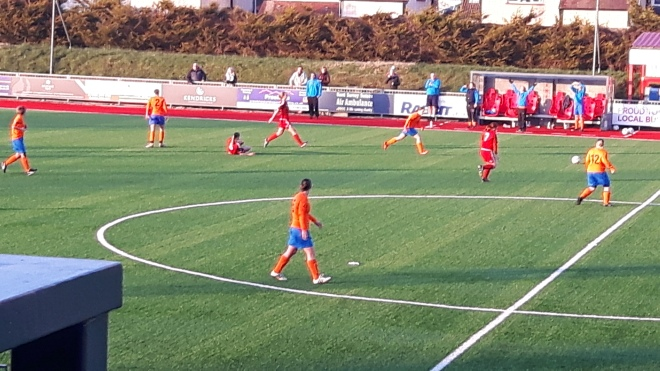 Action from Cowfold v Worthing at Worthing (Photo: Sent Her Forward)
